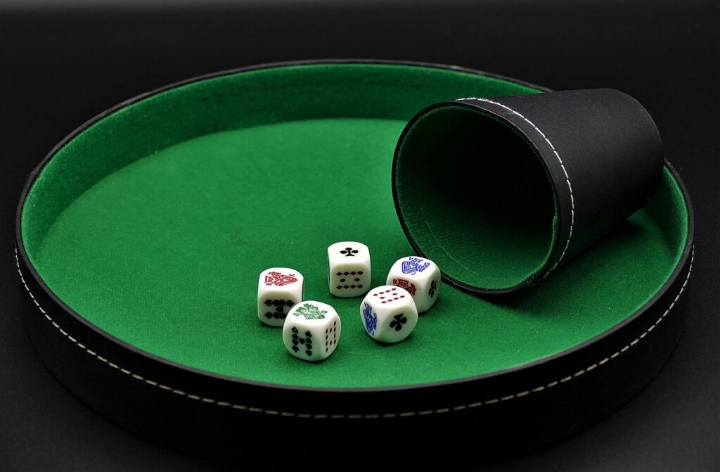 The types of bets provided by Dice Poker are 50:50 bet types as follows: